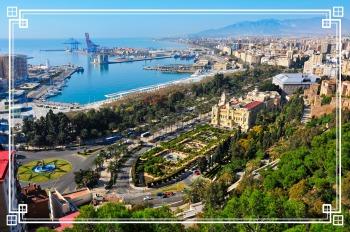 Ausblick Malaga, Sitz Büro VIA Reisen